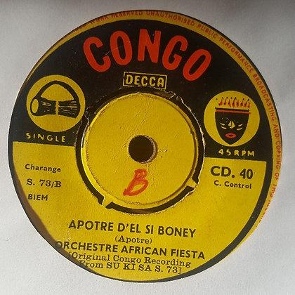 Orchestre African Fiesta – Sizarina / Apotre D'ei Si Boney [Congo Decca]