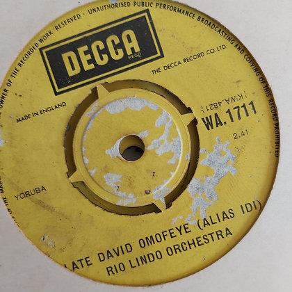 Rio Lindo Orchestra - Omo Lafe Aiye [Decca] Wa 1711
