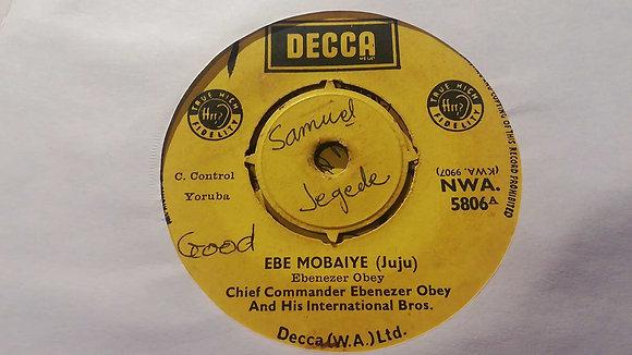 Ebenezer Obey & His Int. Band - Tajudeen Onigbanjo (Juju) [Decca]