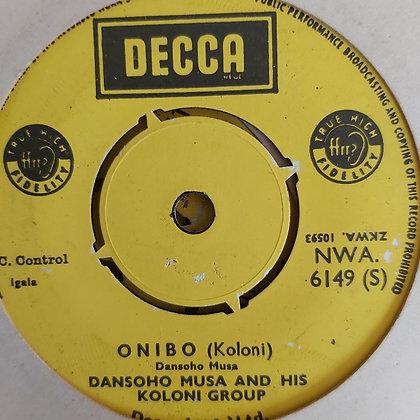 Donsoho Musa & His Koloni Group - Udabaji [Decca] Nwa 6149