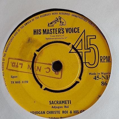 Adjogan Christie Roi & His Group - Sacrameti [HMV - 60's]