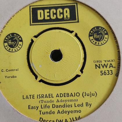 Easy Life Dandies led by Tunde Adeyemo - E Sere [Decca] Nwa 5633