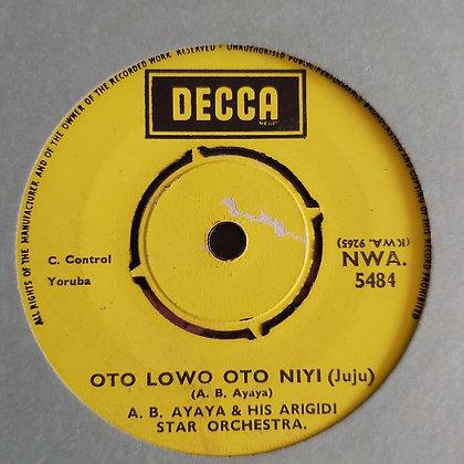 A.B. Ayaya & Arigifi Star Orchestra - Olomi [Decca] Juju