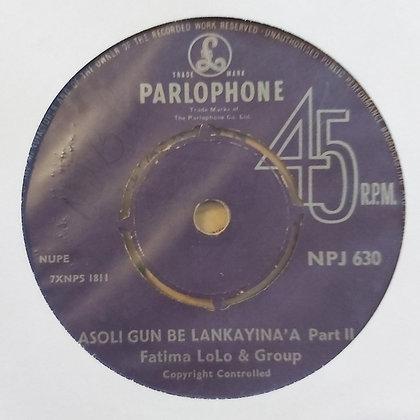 Fatima Lolo & Group - Asoli Gun Be Lankayina [Parlophone]