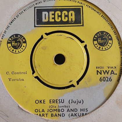 Ola Jombo & His Smart Band - Adura Meta [Decca] NWA 6026