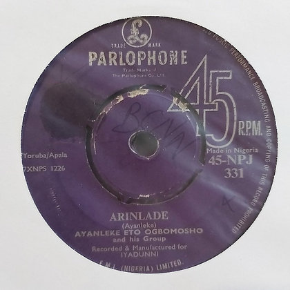 Ayanleke Eto Ogbomosho - Arinlade [Parlophone]