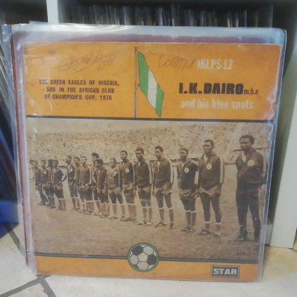 I.K. Dairo (mbe) & His Blue Spots Band [Star Records – IKLPS 12] Yoruba KILLER
