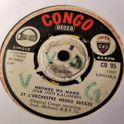 Orch. Negro Succes - Mbombo Wa Mamu / Nganda Renkin [Congo - Decca]