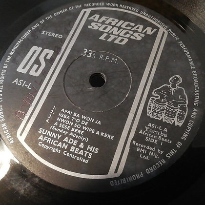 Sunny Ade And His African Beats ‎– Vol. 7 [ African Songs Ltd ‎– AS1-L]