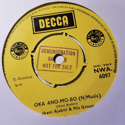 Ikani Ajabiti & His Group - Amatule / Oka Ano-Mop-Bo [Decca]