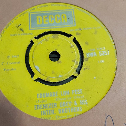 Ebenezer Obey & His Inter. Brothers ‎– Edumare Lon Pese [Decca] Nwa 5357