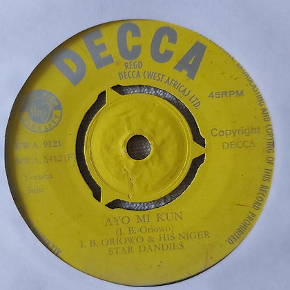 I.B. Oriowo & His Niger Star Dandies - Iyani Wura [Decca]