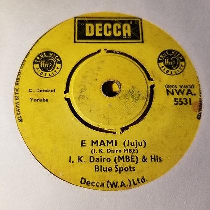 I.K. Dairo & His Blue Spots – Tete Gbaradi [Decca]