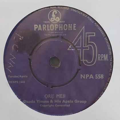 Dauda Yinusa & His Apala Group - Ore Meji [Parlophone]