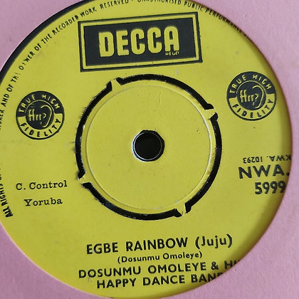 Dosunmu Omoleye & His Happy Dance Band - Oge Aromi Sa [Decca] NWA 5999