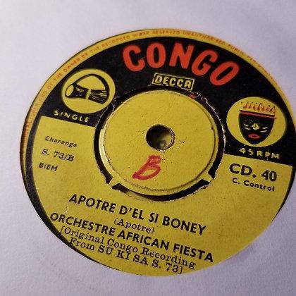 Orch. African Fiesta - Apotre D'el Si Boney / Sizarina [Congo - Decca]