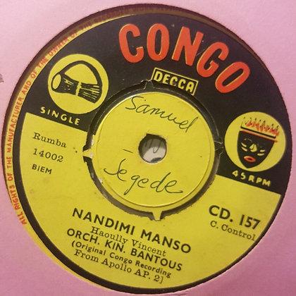 Haoully Vincent & Orch Kin.Bantous - Ebandeli Sukali [Congo - Decca]