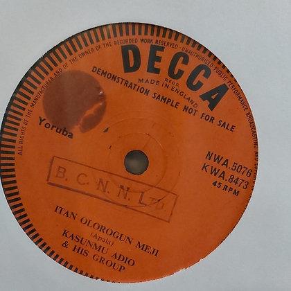 Kasunmu Adio & His Group - Itan Olorogun Meji [Decca]