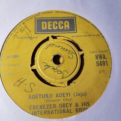 Ebenezer Obey & His International Bros - Lolade Wilkey [Decca]