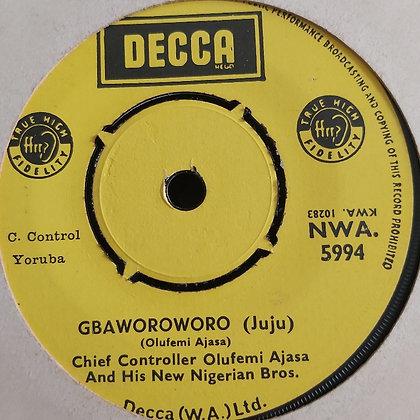 Chief Controller Olufemi Ajasa - Gbaworoworo [Decca] NWA 5994