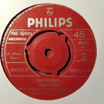 Paul Mbanefo Okongwu & His Lord's Dance Band - Ide Owojo [Philips]