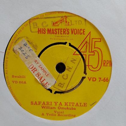 William Omukuba - Safari Ya Kitale [HMV - 60's]