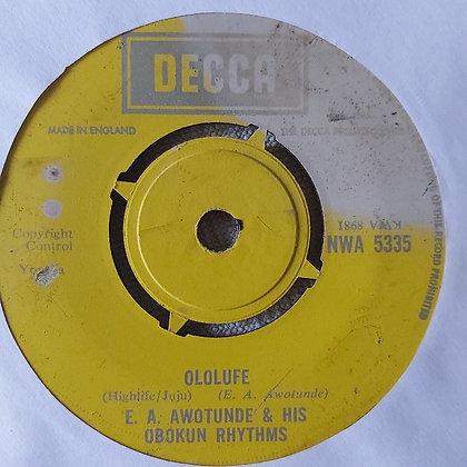 E.A. Awotunde & His Obokun Rhythms - Aseyi Samodub [Decca]