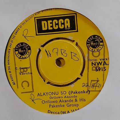 Orilowo Akande & His Pakenke Group - Emi Ntoro Ire [Decca 60's]