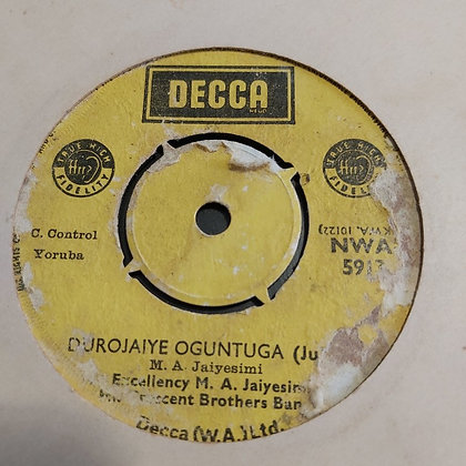 M.A. Jaiyemi & His Crescent Brothers - Excellency [Decca] Nwa 5913