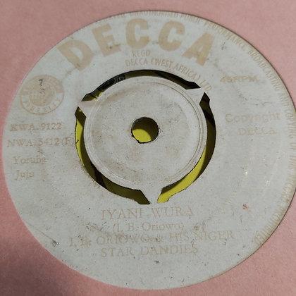 OB Oriowo & Niger Star Dandies - Iyani Wura [Decca] Nwa 5412
