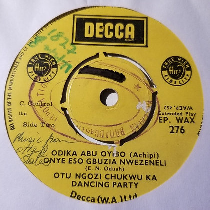 Otu Ngozi Chukwu Ka Dancing Party - Ugegbe Oli Wolowolo [Decca]