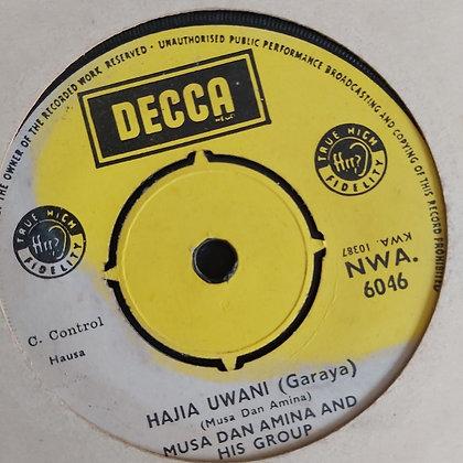 Musa Dan Amina - Haja Uwani [Decca] Nwa 6046