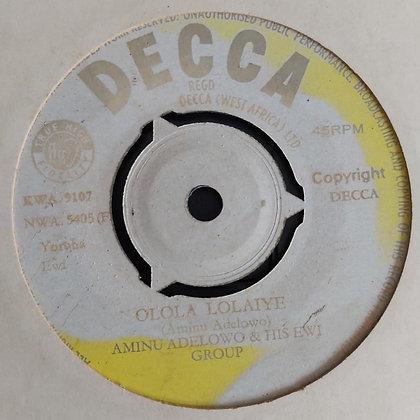 Aminu Adelowo - Eyonu Aiye [Decca] Nwa 5405