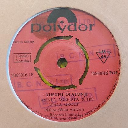Ayinla Agbejapa & His Apala Group - Yusufu Olatunji [Polydor]
