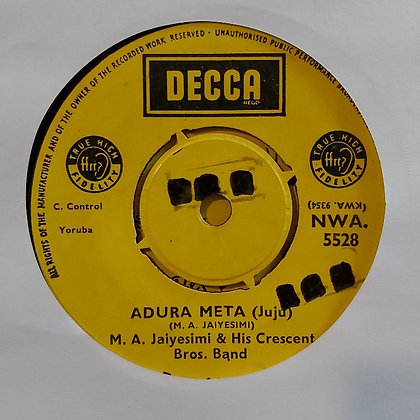 M.A. Jaiyesimi & His Crescent Bros. Band - Alhaji Omotayo [Decca]
