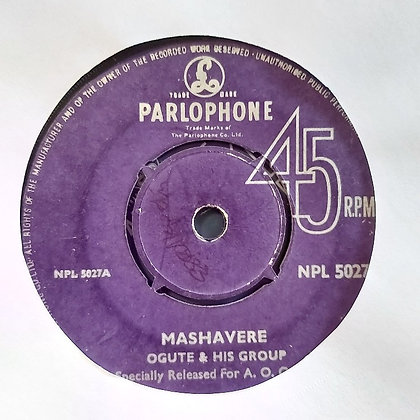 Ogute & His Group - Mashavere [Parlophone]