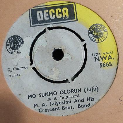 M.A. Jaiyemi & His Crescent Brothers - Baby Mi [Decca] Nwa 5665