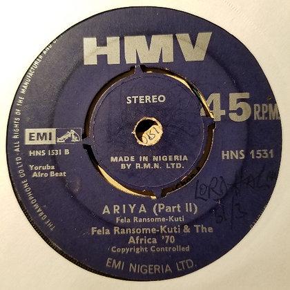 Fela Ransome Kuti And His Nigeria '70 – Ariya [HMV]