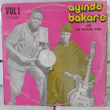 Ayinde Bakare And His Meranda Band – Vol 1 [African Songs Ltd – LPAS 8012]