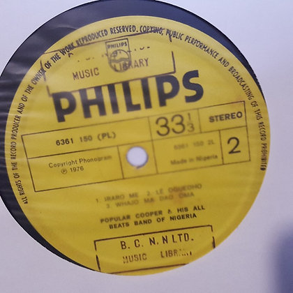 Popular Cooper and His All Beats Band of Nigeria [Philips]