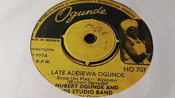 Hubbert Ogunde & His Studio Band - Late Adesewa Ogunde [Ogunde]