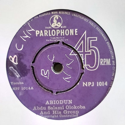 Abdu Salami Olokoba & His Group - Abiodun [Parlophone]