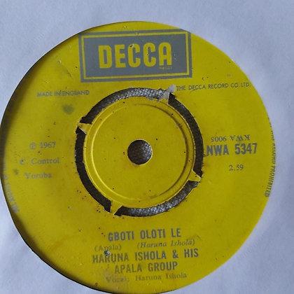 Haruna Ishola & His Apala Group - Orin To Mo Gbon Wa [Decca]