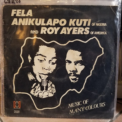 Fela Anikulapo Kuti And Roy Ayers ‎– Music Of Many Colours [Phonodisk ‎– PHD 00]