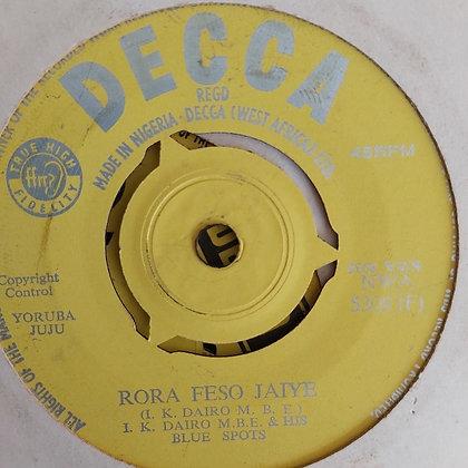 I.K. Dairo - Adi Ori Mi [Decca] Nwa 5309