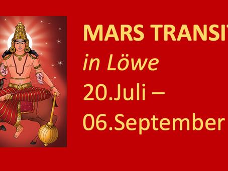 Mars im Löwe vom 20.07. bis zum 06.09.2021