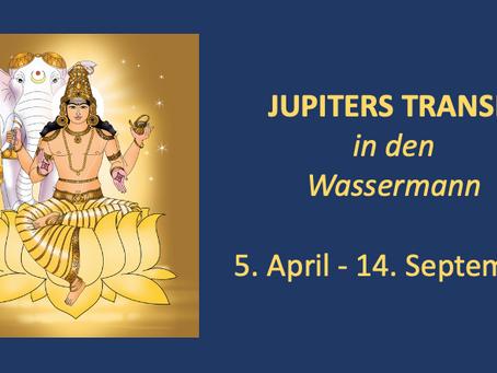Jupiters Transit in den Wassermann vom 05. April bis 14. September
