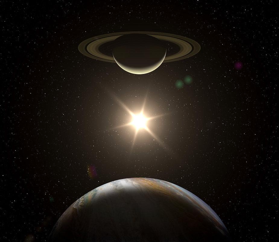 Great Conjunction: Jupiter and Saturn me