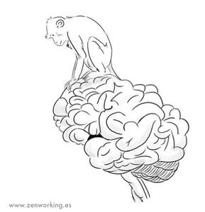 mente de mono, piloto automático, estrés