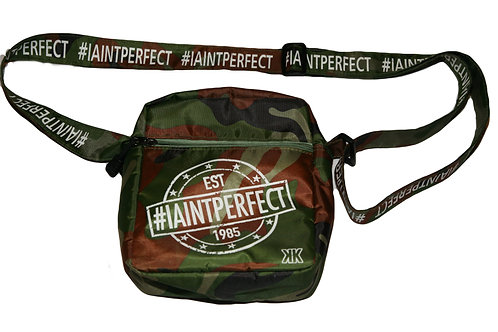 "CAMO ""I AINT PERFECT"" MAN BAG"
